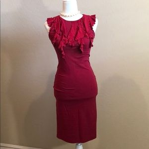 RED Valentino Sophisticated Ruffle Dress